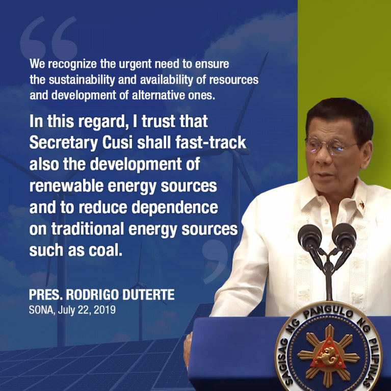 Renewable energy tack in SONA lauded