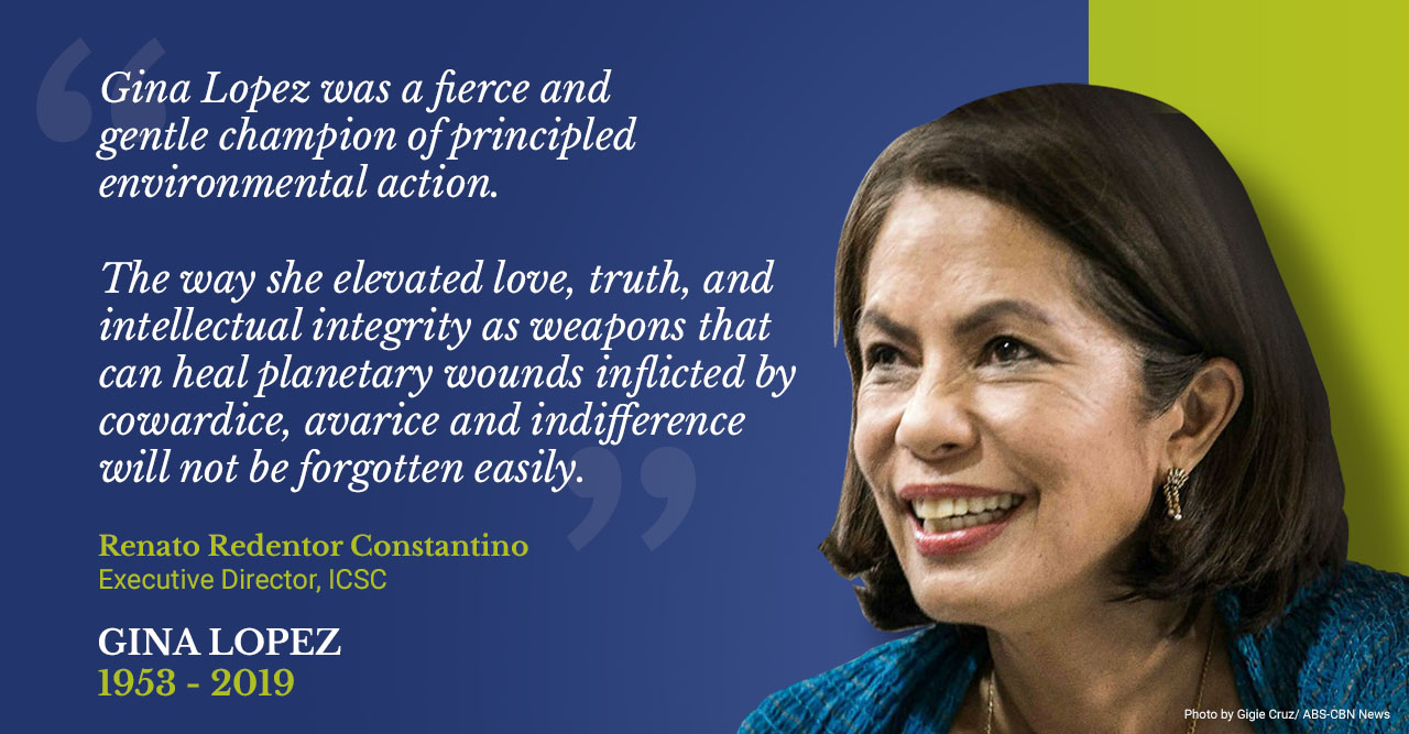 In memoriam: ICSC statement on Gina Lopez's passing – ICSC | Institute for  Climate and Sustainable Cities