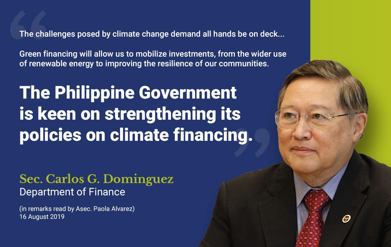 DOF Sec. Dominguez underscores need for climate-smart insurance in vulnerable economies