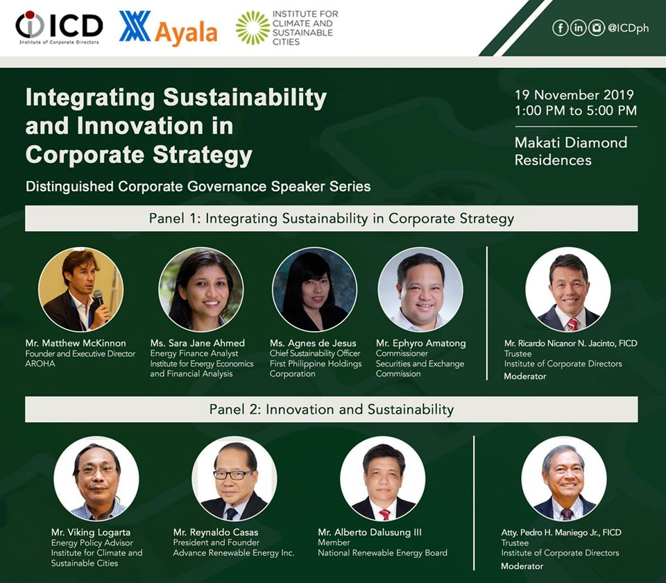 PH corporate directors to address climate change, sustainability in forum