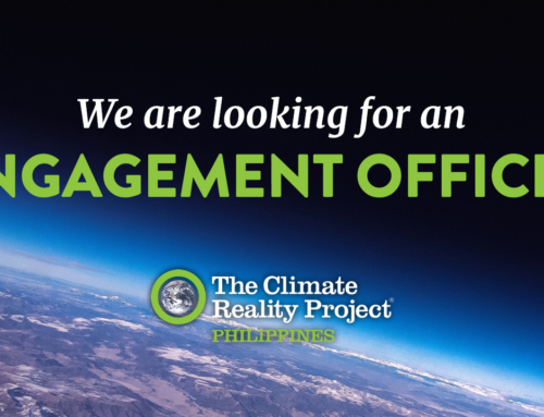 CALL FOR APPLICATIONS: Engagement Officer, The Climate Reality Project Philippines