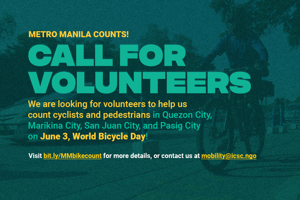 Call for volunteer MM counters for June 3 Bike Day