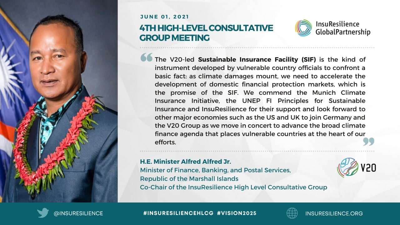 Finance ministers of world's most climate-vulnerable economies establish insurance facility with UN Environment Programme to protect MSMEs